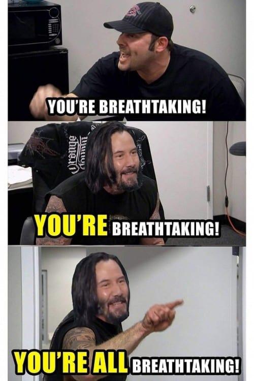 clean keenu reeves memes