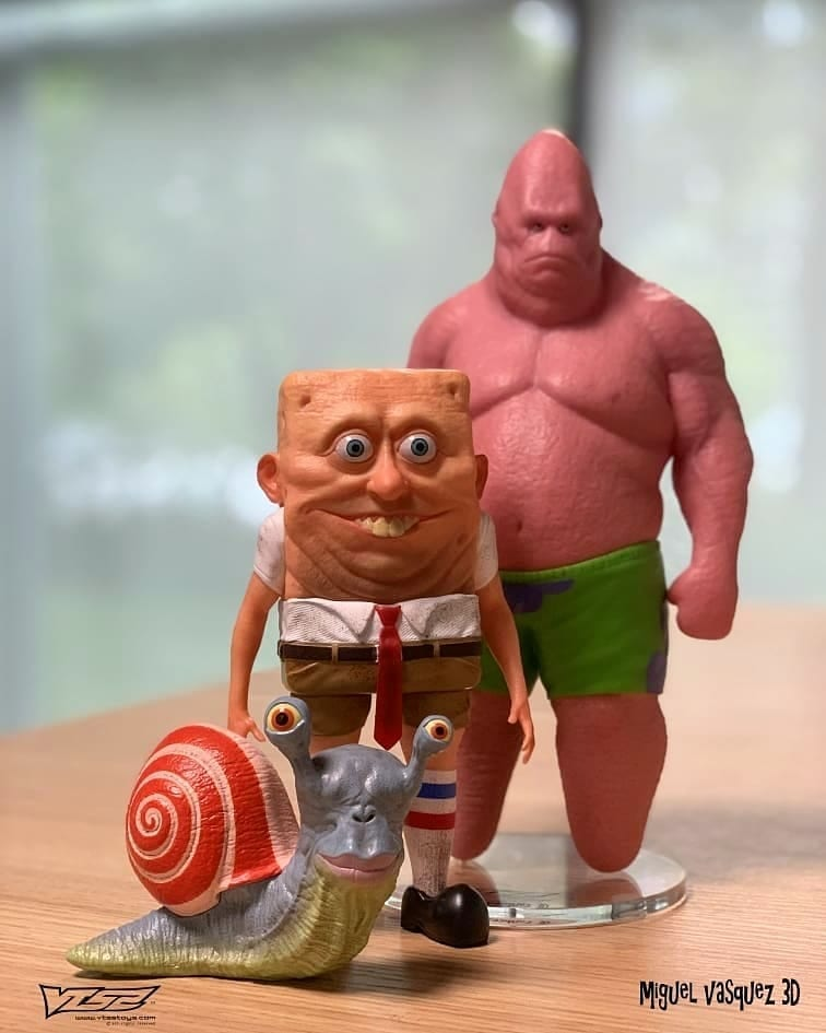 Realistic Spongebob Patrick And Homer Artist Shows They D Look